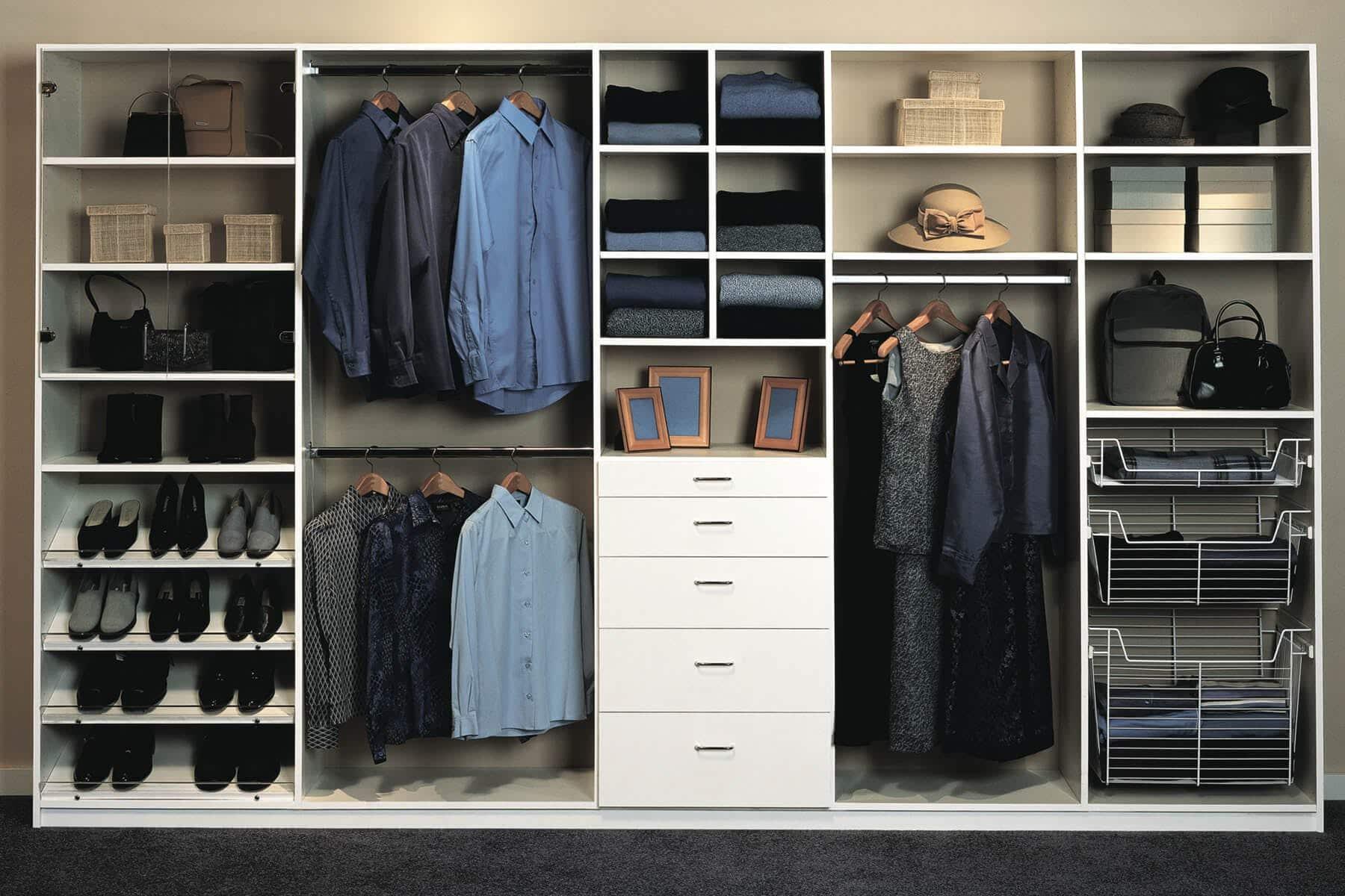 White Melamine Custom Closet ...