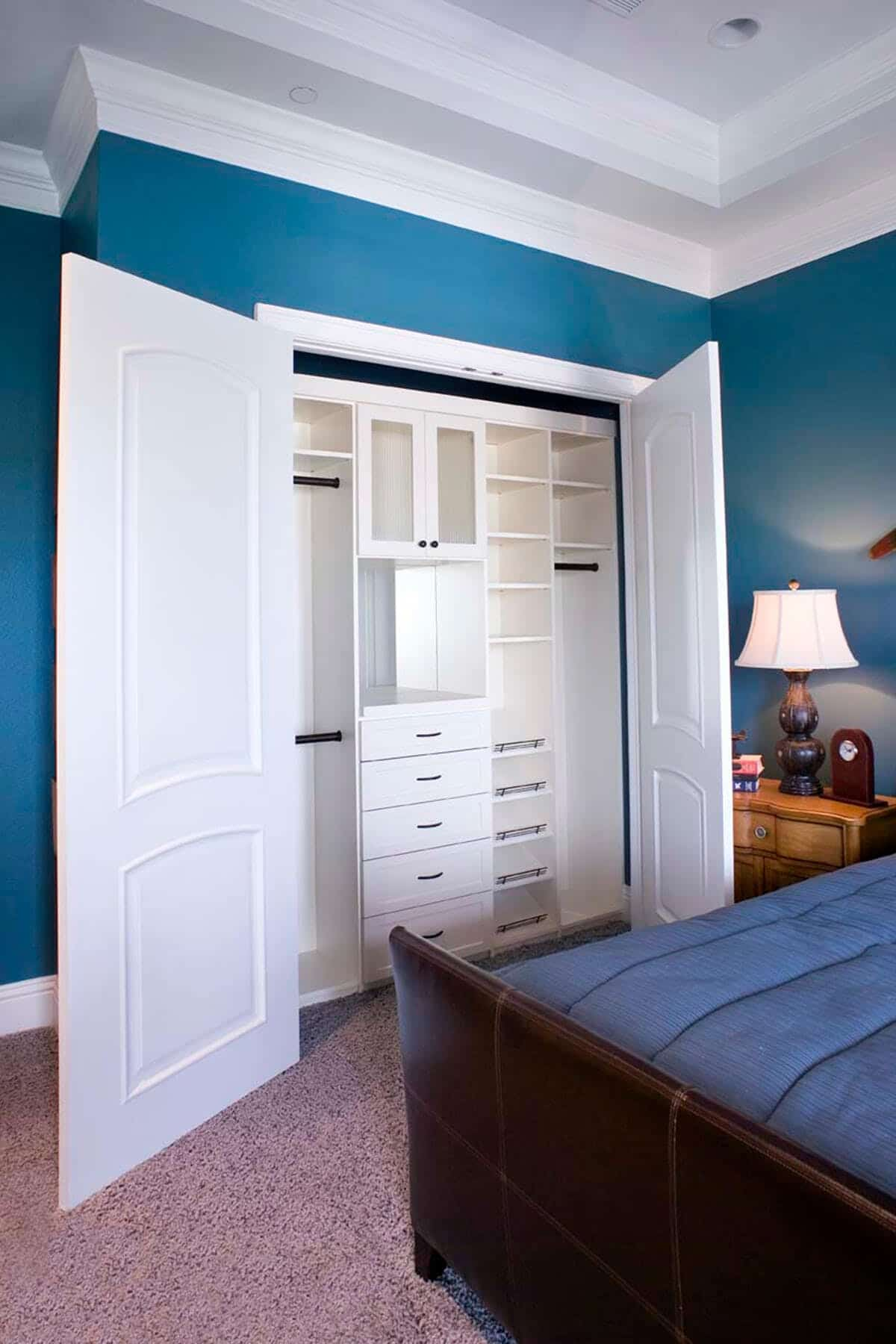 White Melamine Closet Organizer ...
