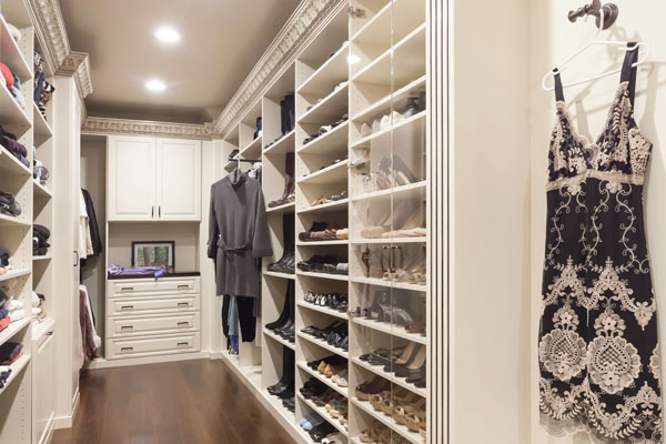 ... Traditional Acanthus Wood Walk In Closet