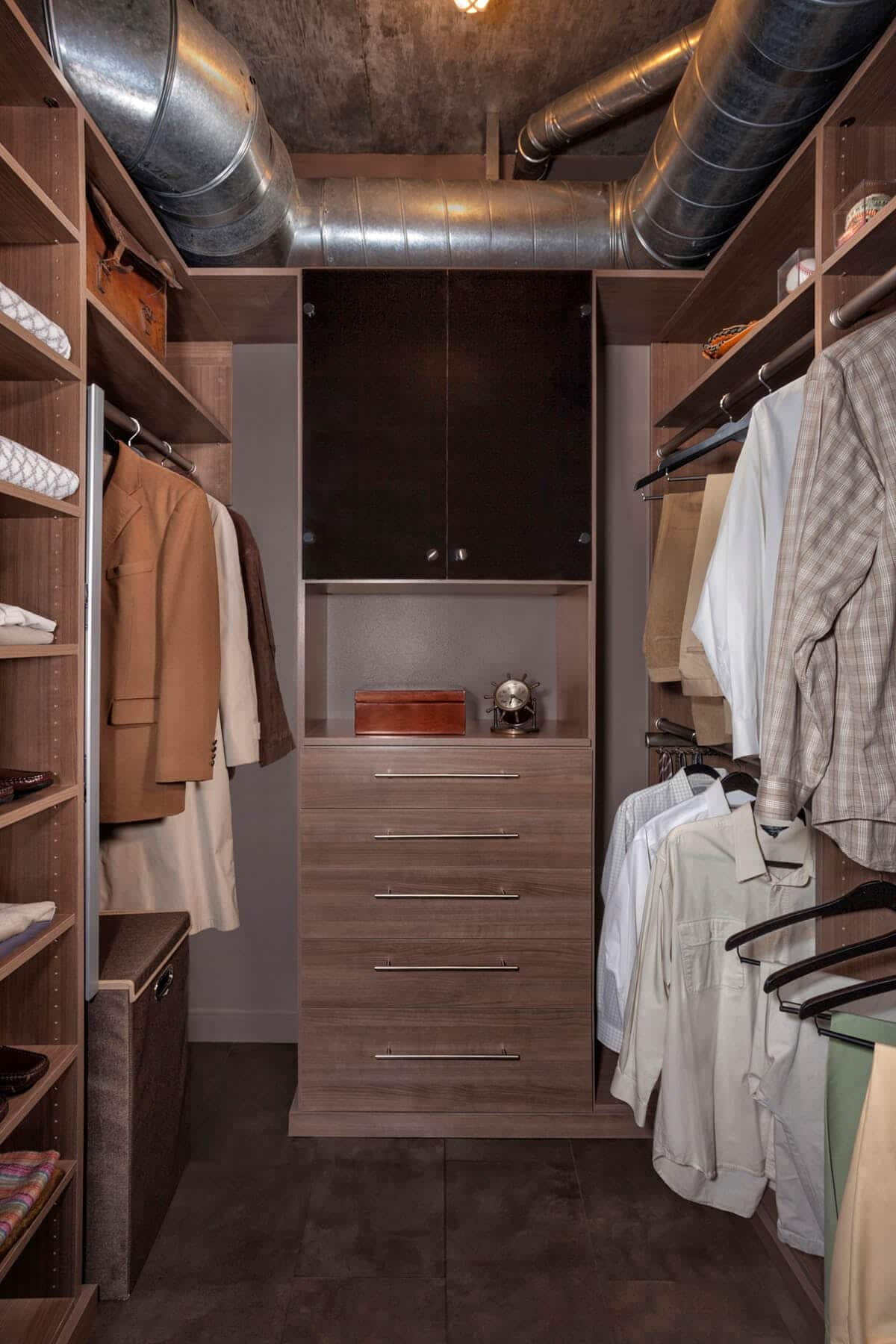 Industrial Style Closet System Industrial Style Closet System Walk  Ins_dwell4