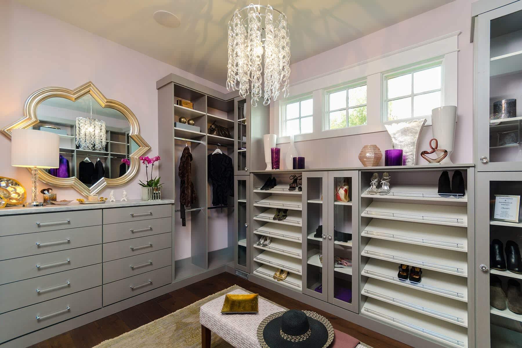 Attirant Grey And White Melamine Closet ...