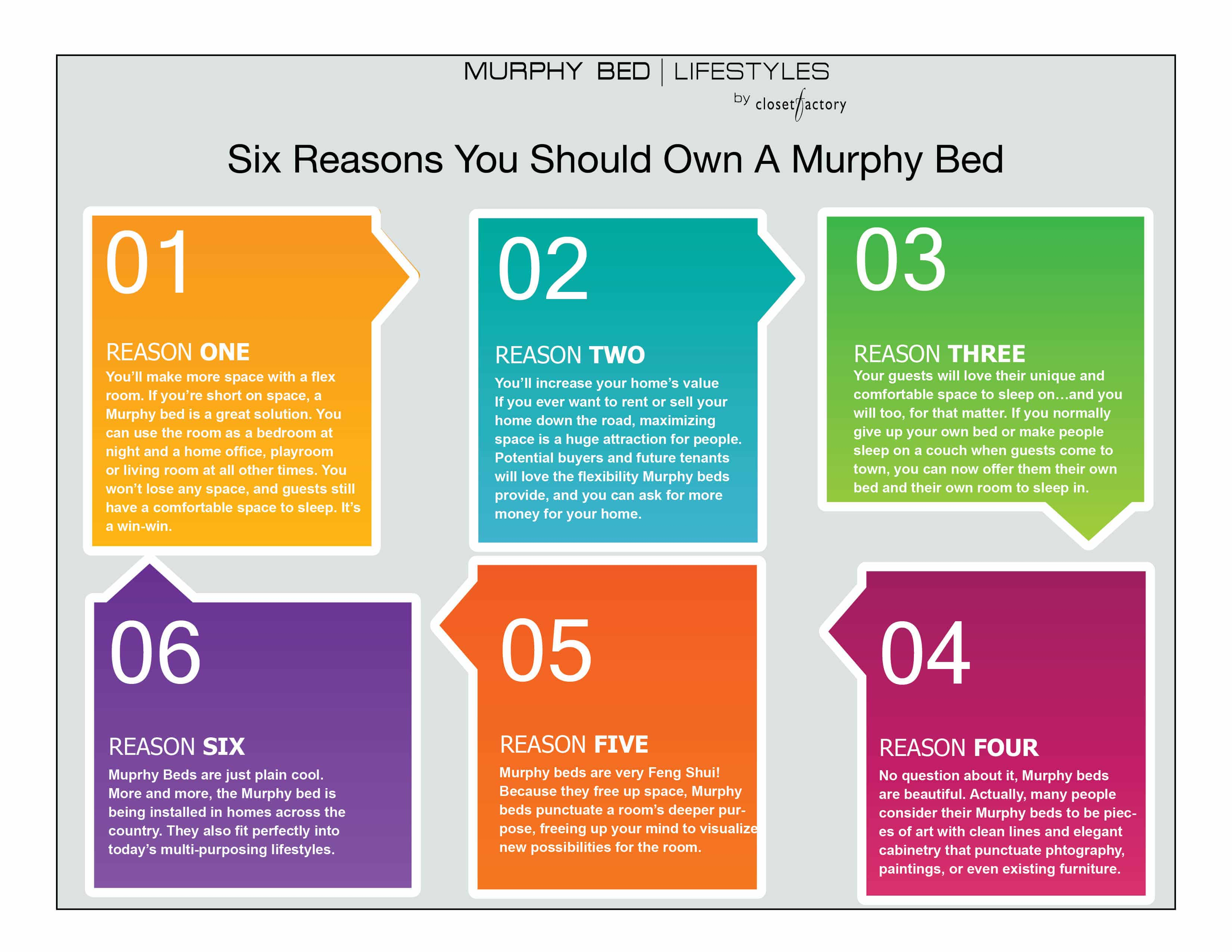 These are six good reasons for owning a Murphy bed