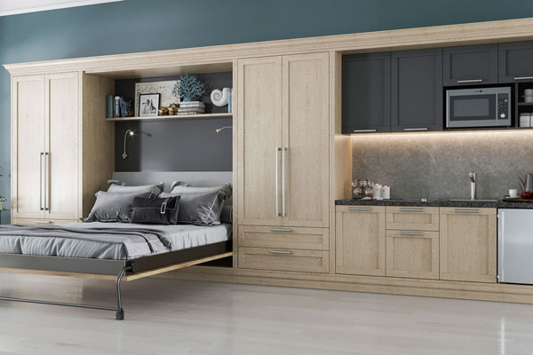 ... Loft Wall Bed With Kitchen Built Ins Is Perfect For In Law Suite Or