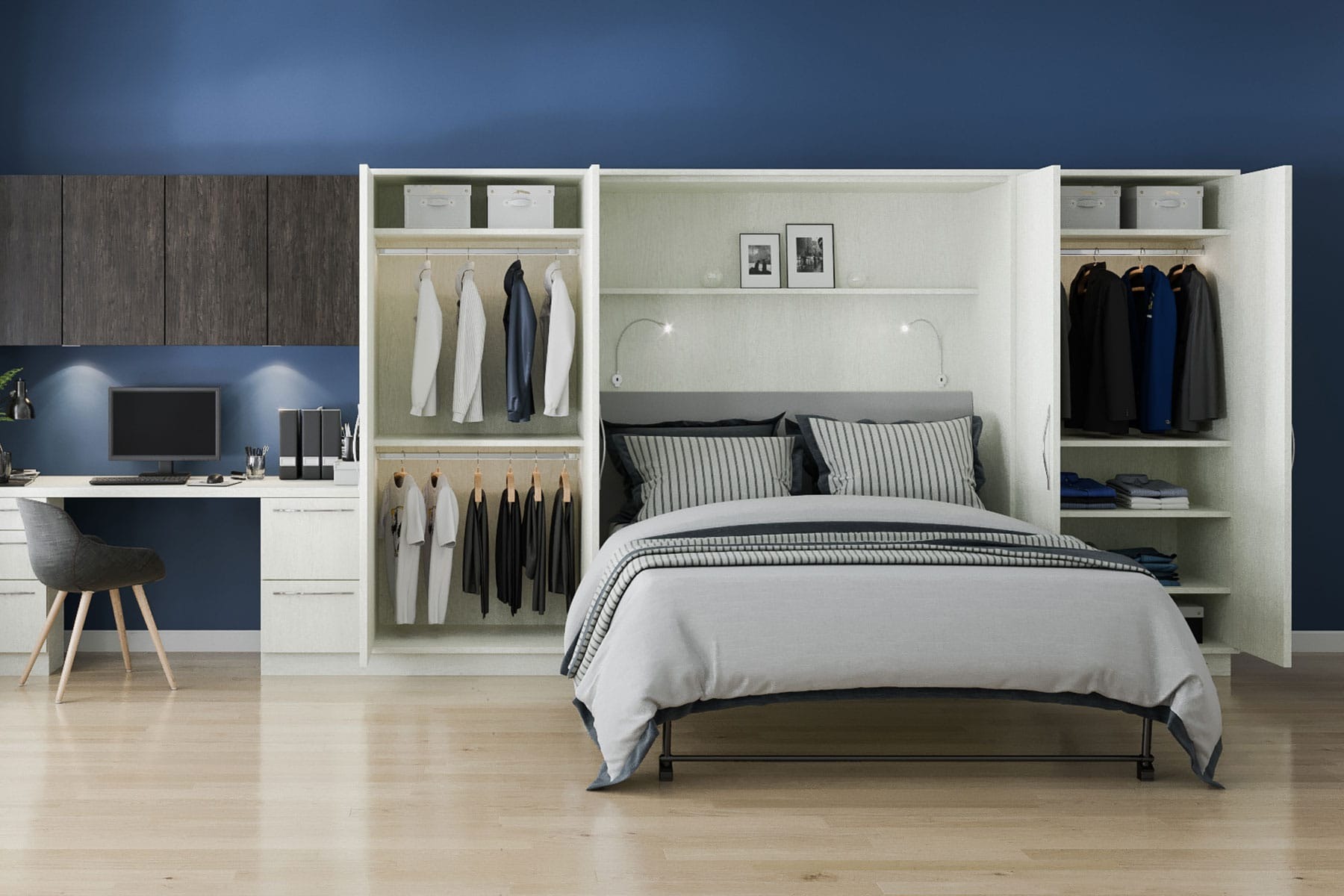 desk and jersey systems wall closet northern concepts new custom closets bed storage nj