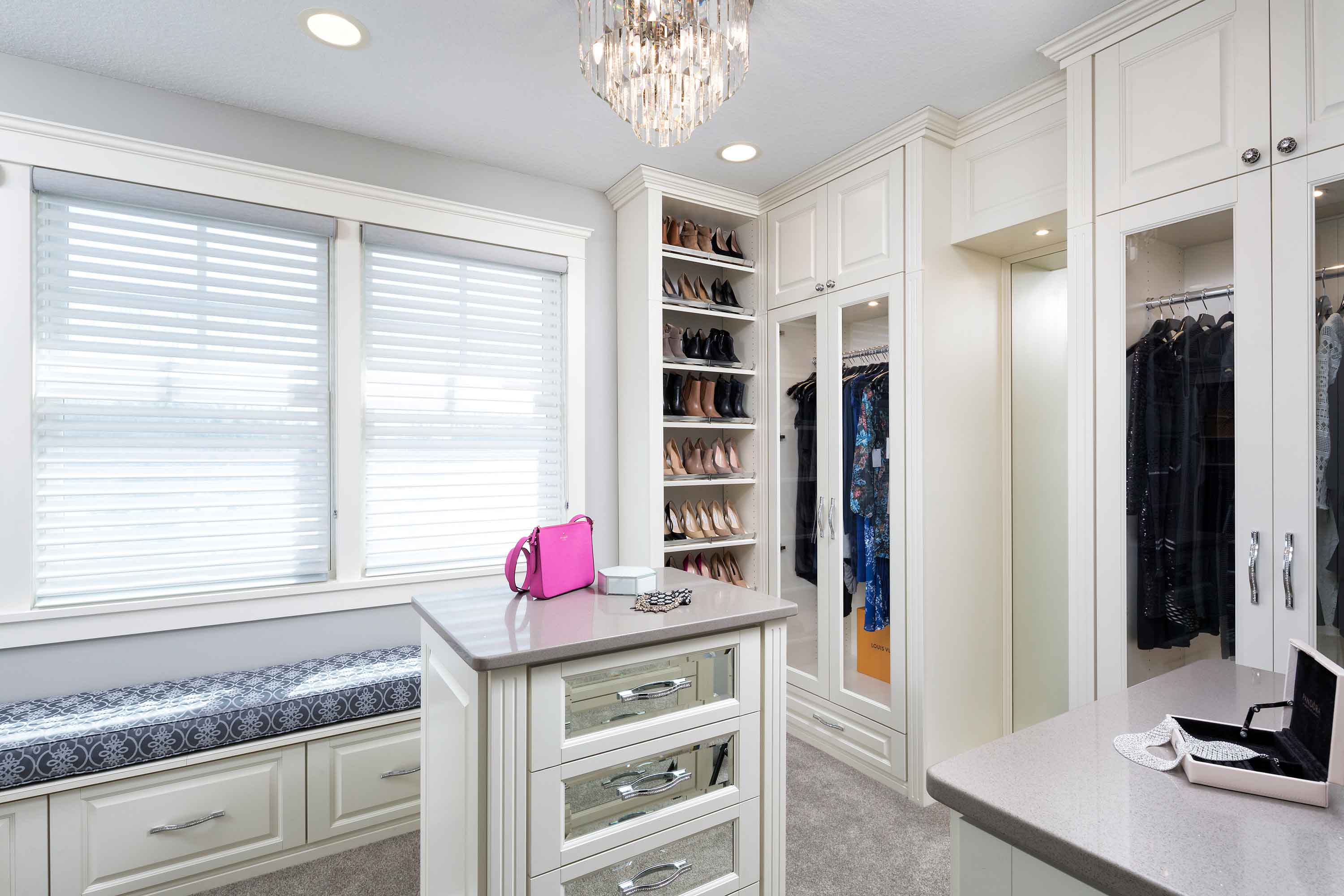 "Design A Custom Closet with ""Bling"""