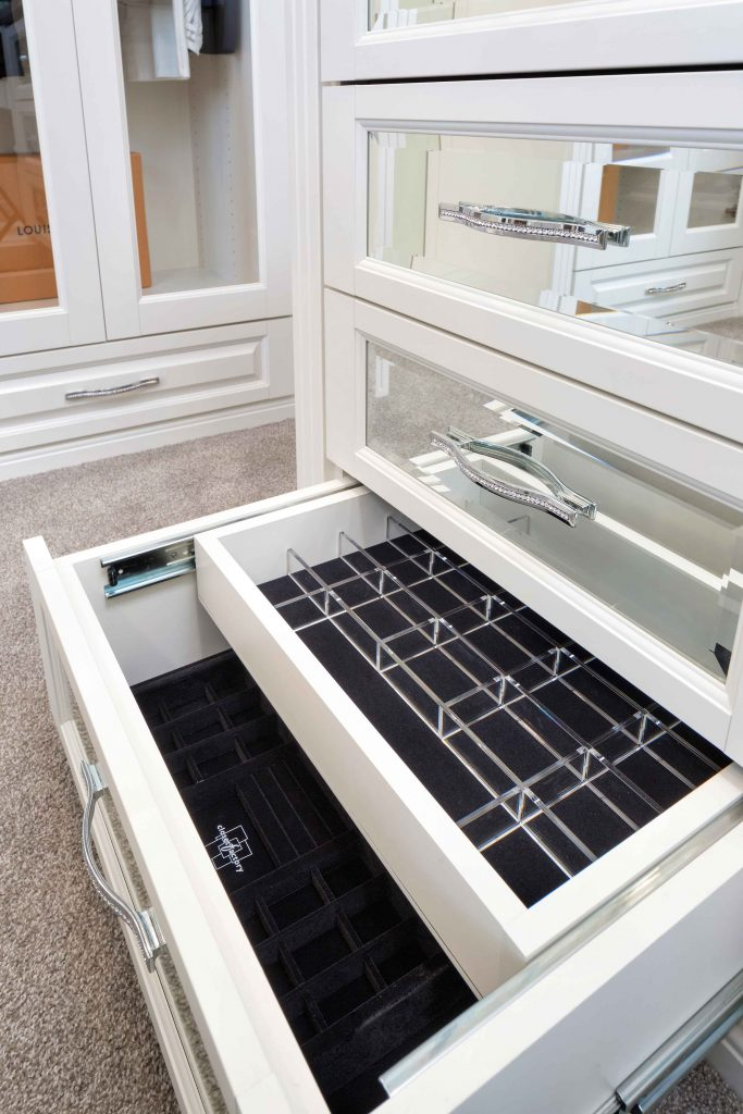 Lucite drawer dividers