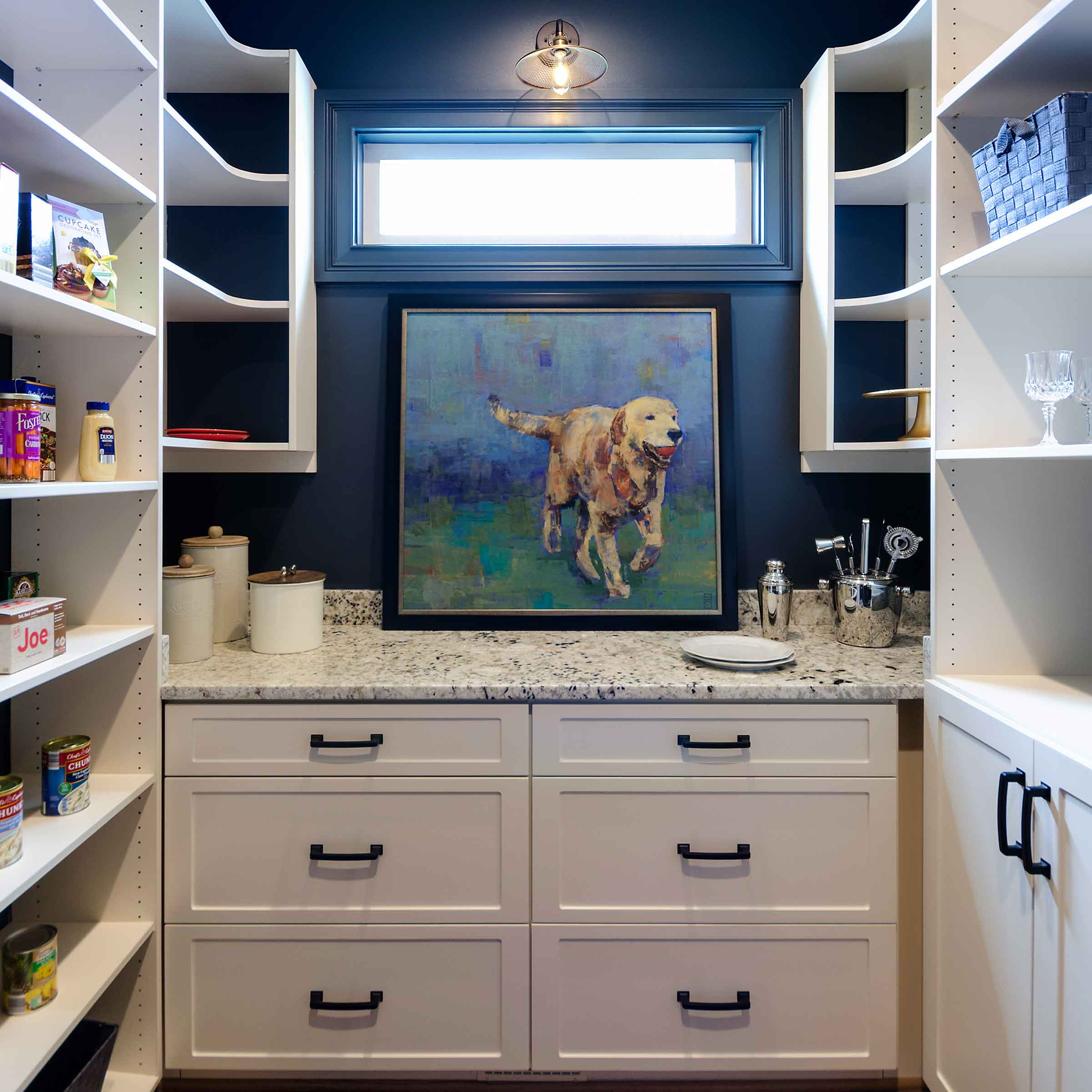pantry drawer unit with counter