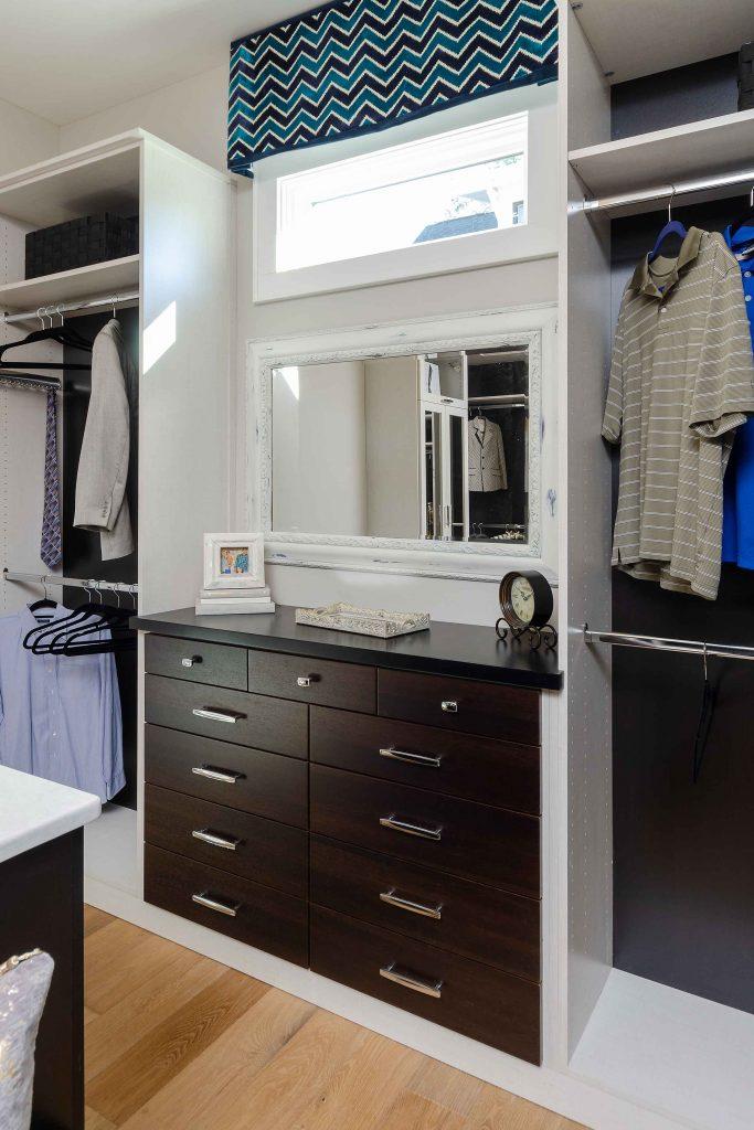 built-in master closet system