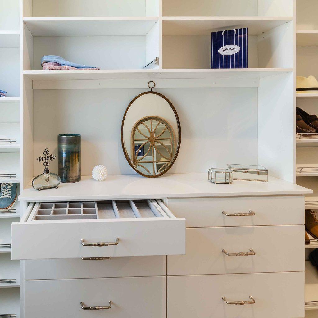 velvet jewelry drawer open