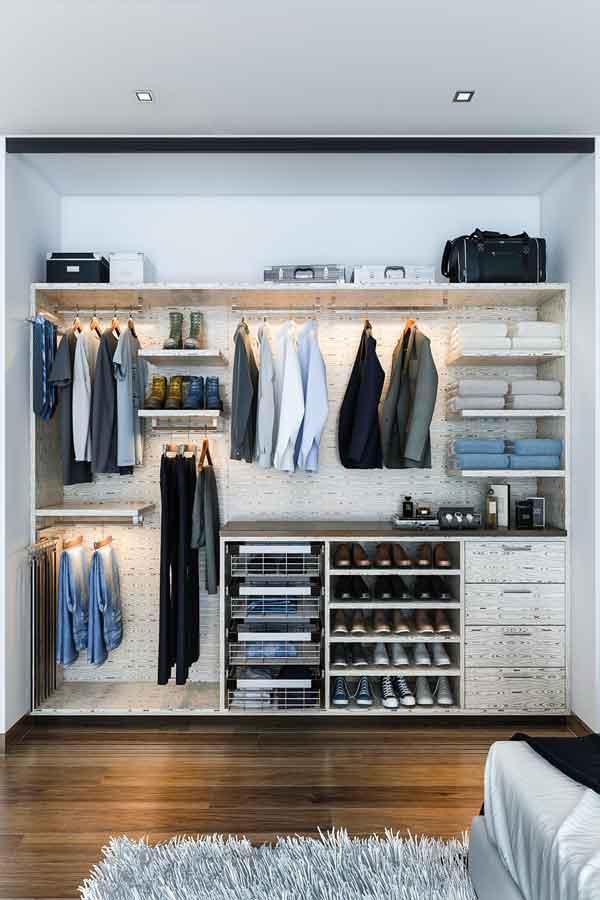 man's custom closet