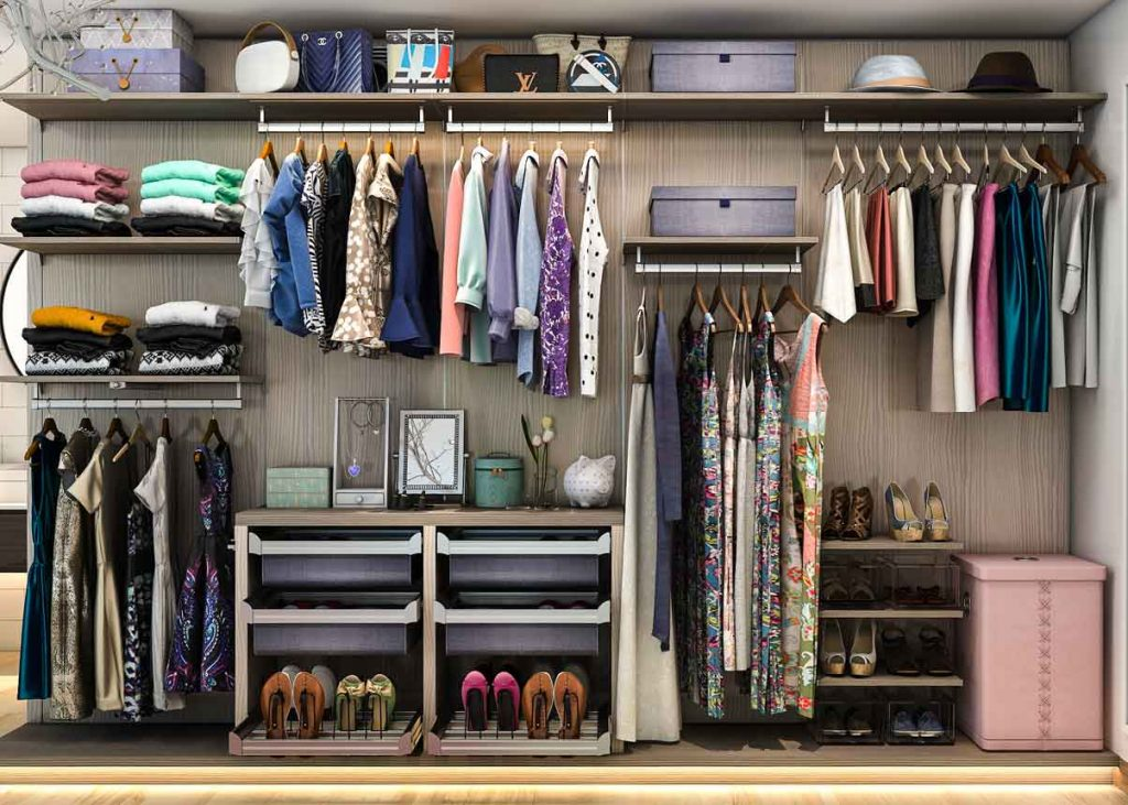 An organized summer closet is a great way to prepare for the summer months.