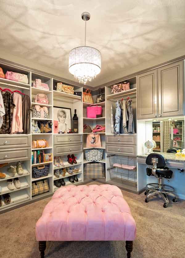 ottoman seat for custom closet