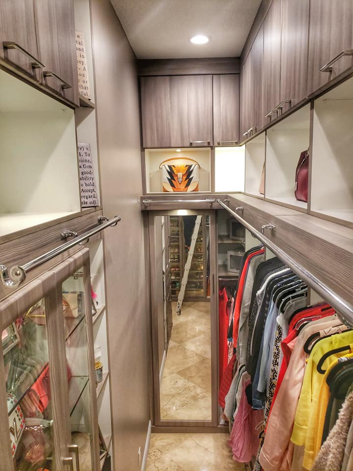 Custom closet with space for your clothes.