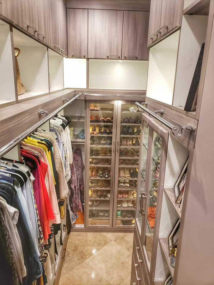 Designer closet that is extra tall