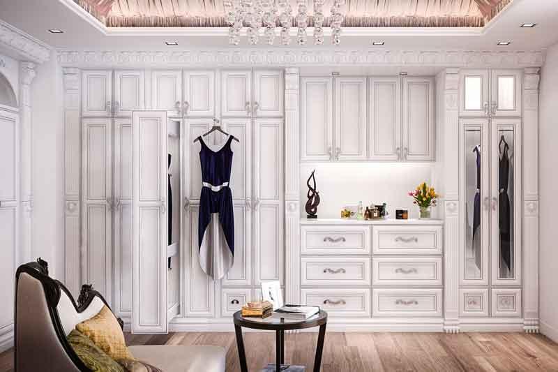 Custom dressing rooms are elegant
