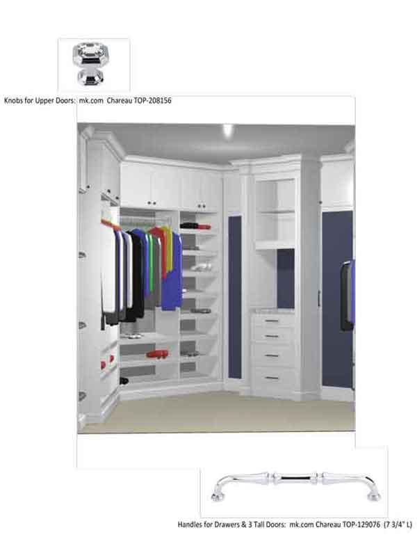 custom closet design schematic