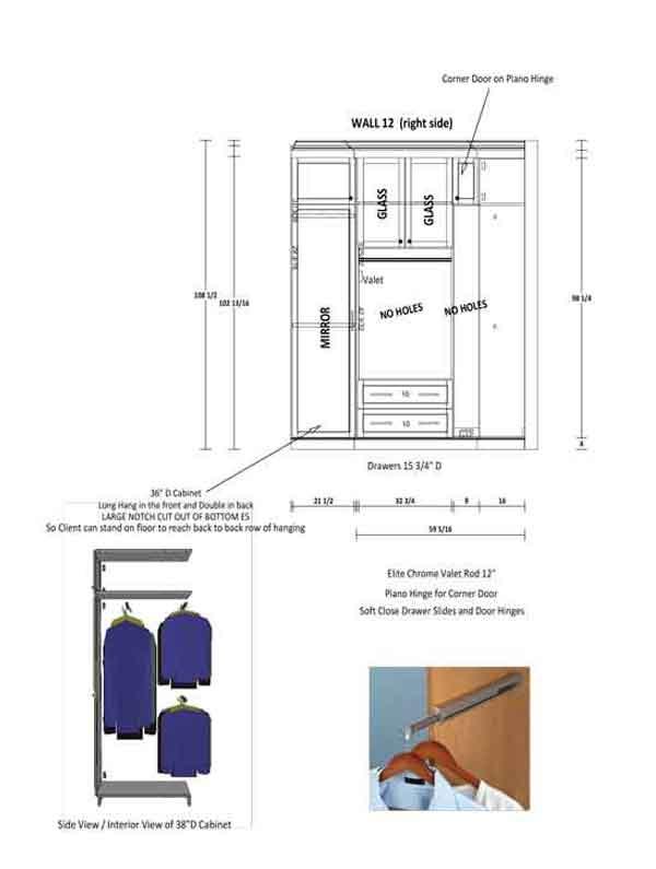 custom designer plans for luxury closet