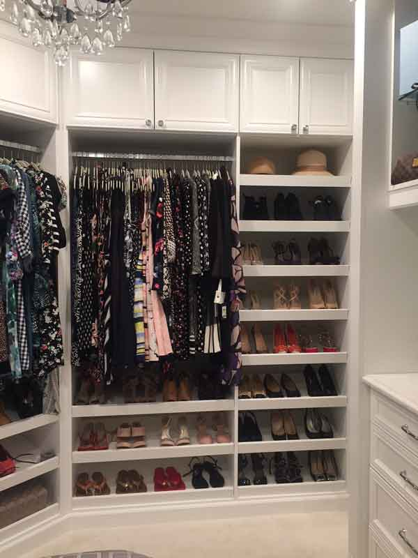 Custom closet design for shoes
