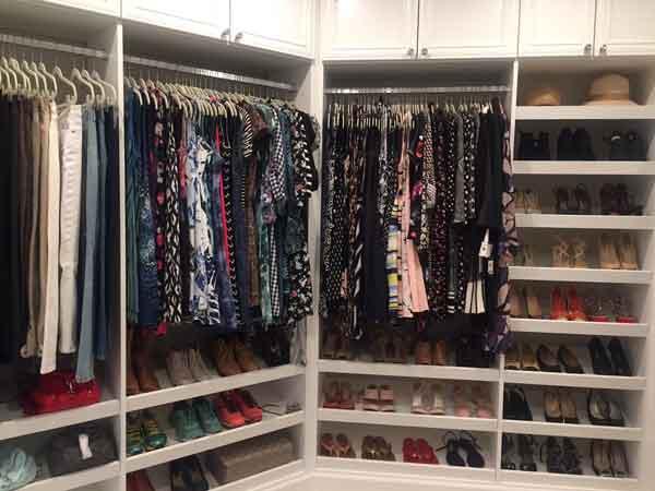 Custom closet design for unusual space