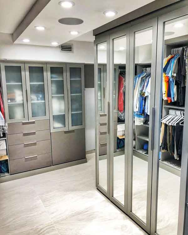 Custom closet design for penthouse