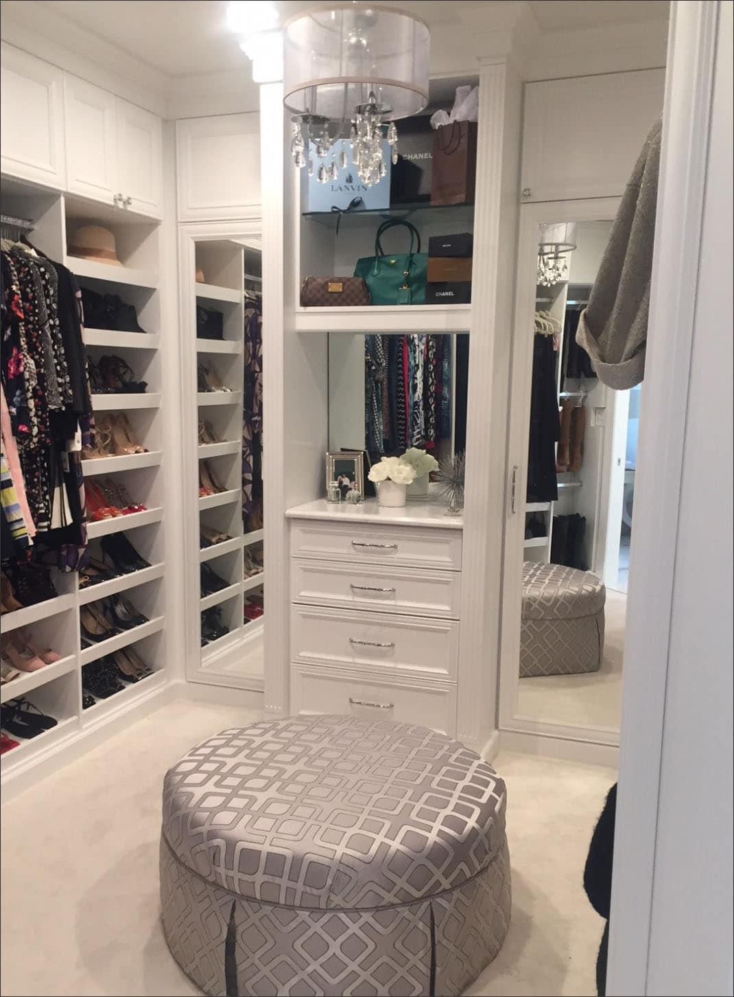 Beautifully designed custom dressing room
