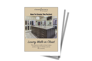 guide cover to create a luxury walk-in