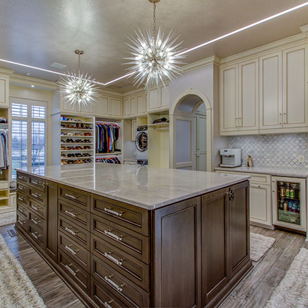luxury walk-in closet by cleveland office
