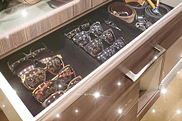 drawer with accessories