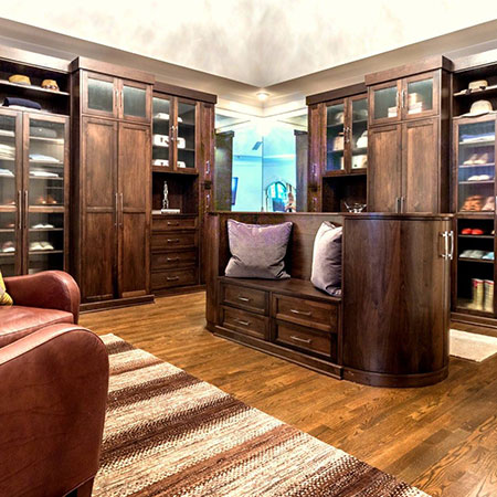 Louisville walnut wood wardrobe closets