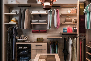 Organized finesse walk-in closet system