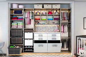 reach-in closet for baby without sliding doors on it