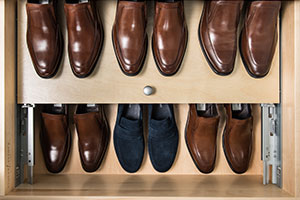 double decker shoe drawer for men