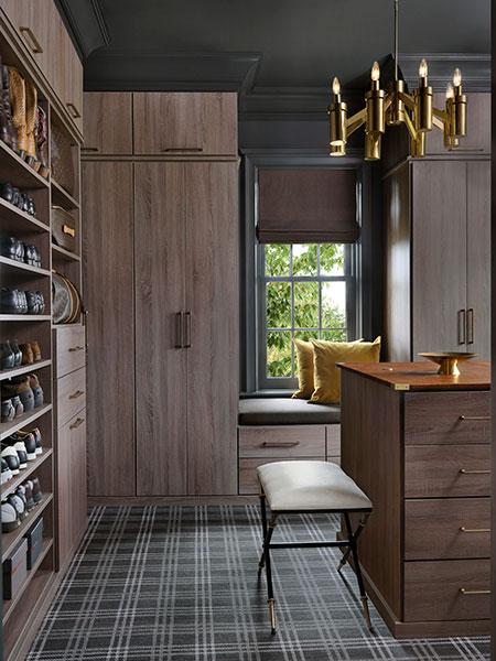 elegant dressing room for a man