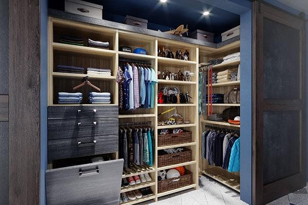 luxury personalized closet organization system - dark