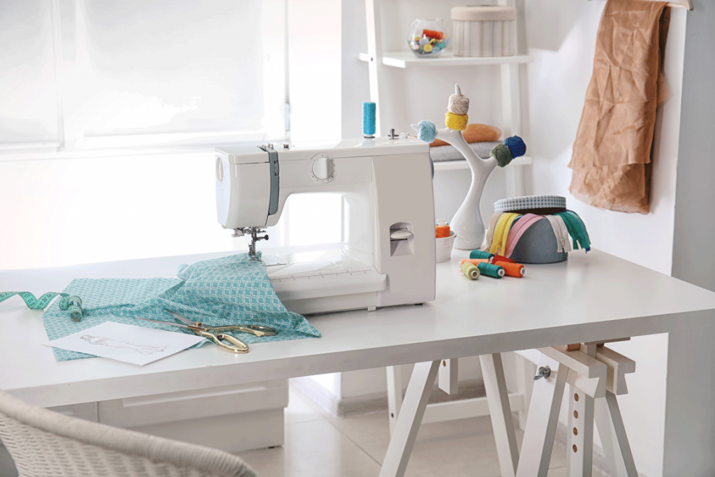 craft room sewing machine