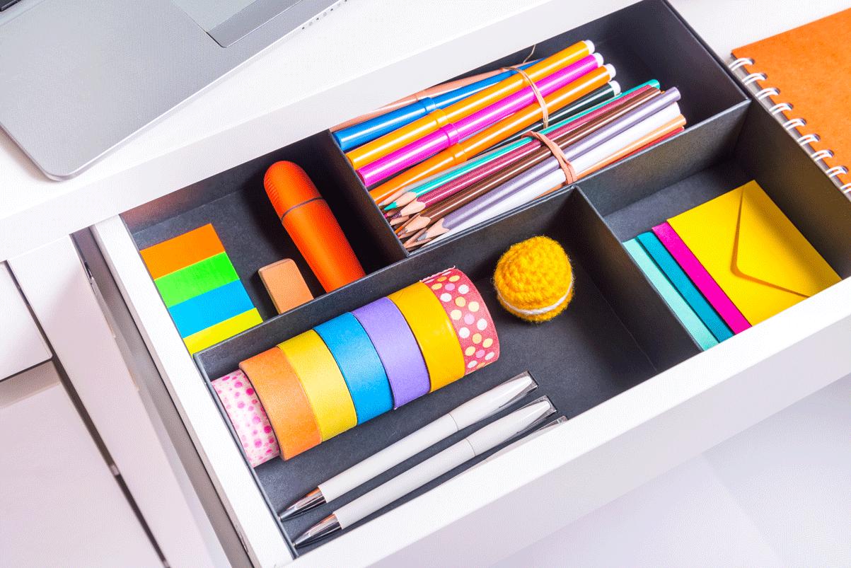 Craft Room DIY Drawer Organizer