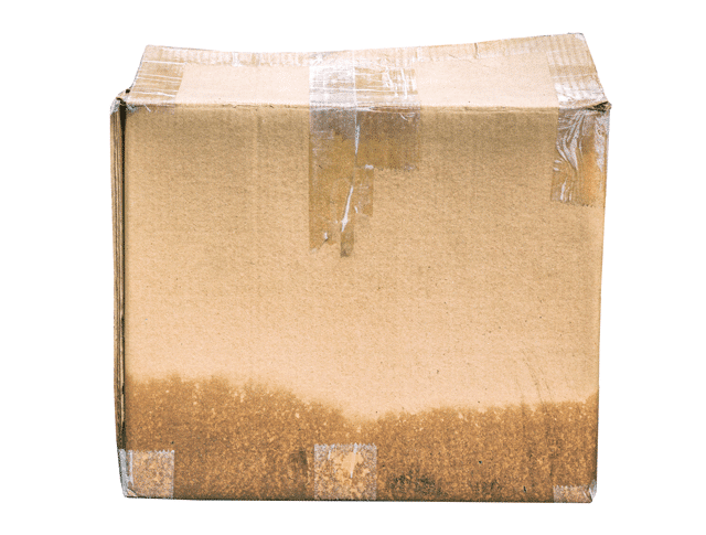 don't store out of season clothes in dirty cardboard box