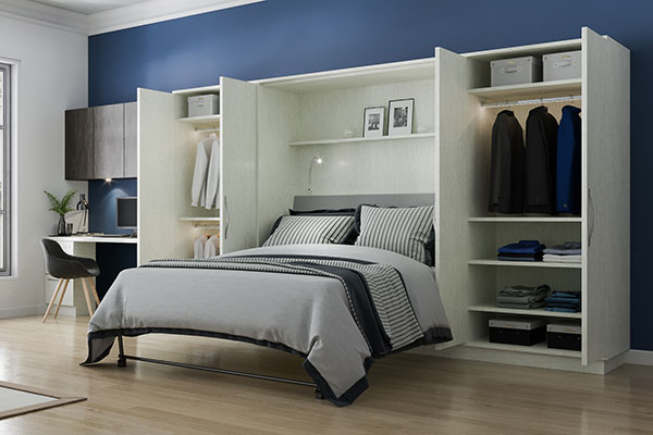 winter white wall bed