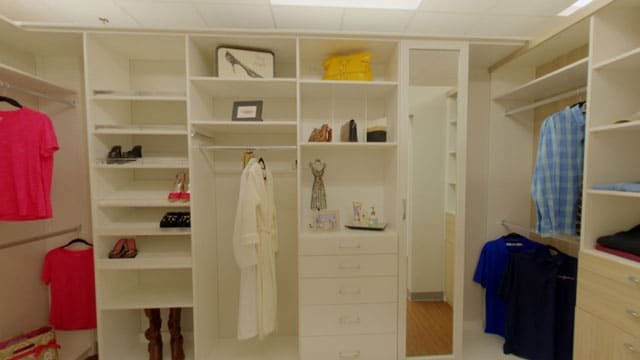 white closet in a Richmond ,VA showroom