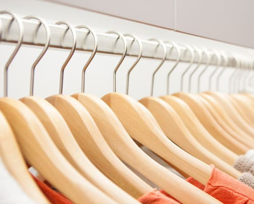 picture of clothes on hangers