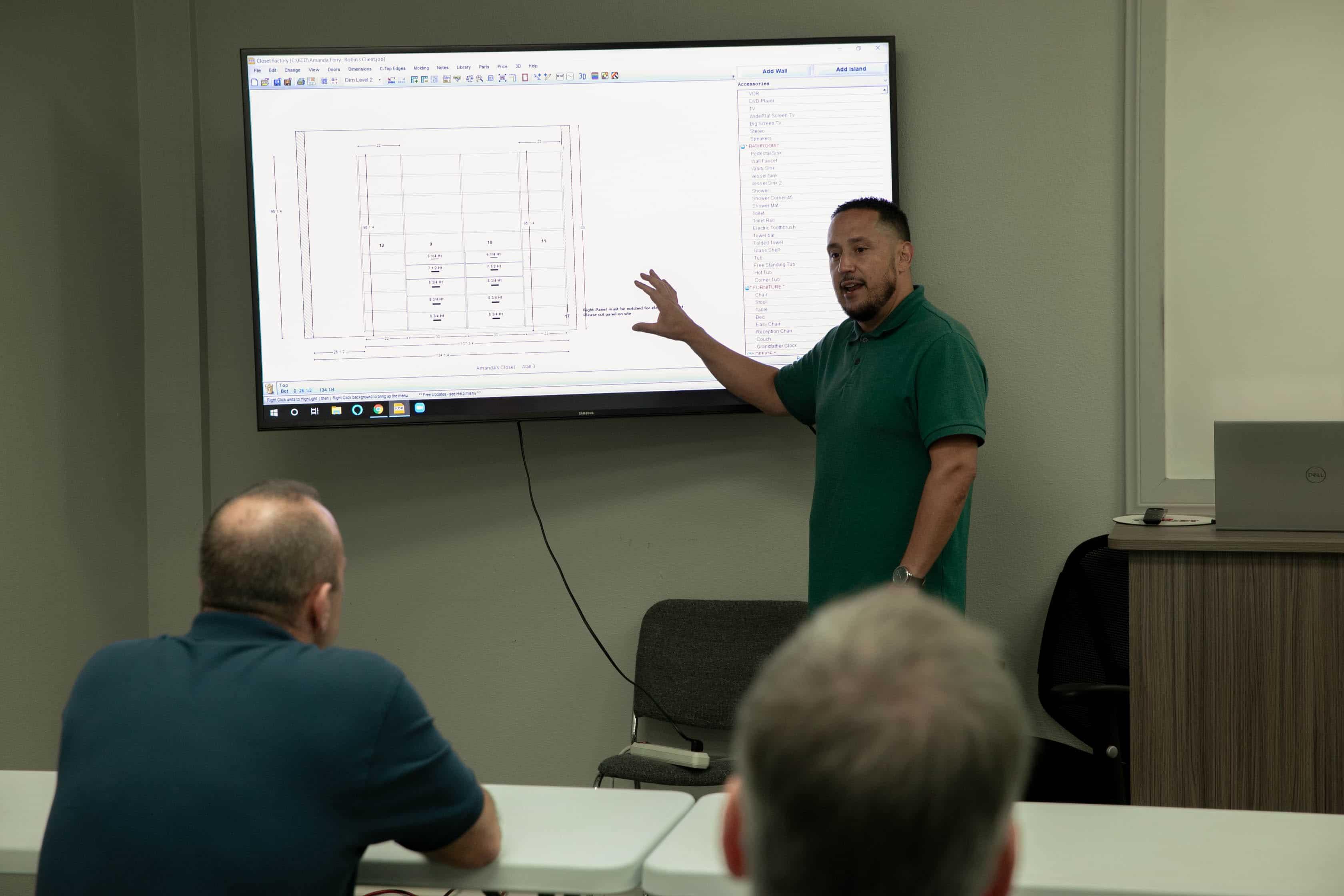 ops explaining plans on whiteboard