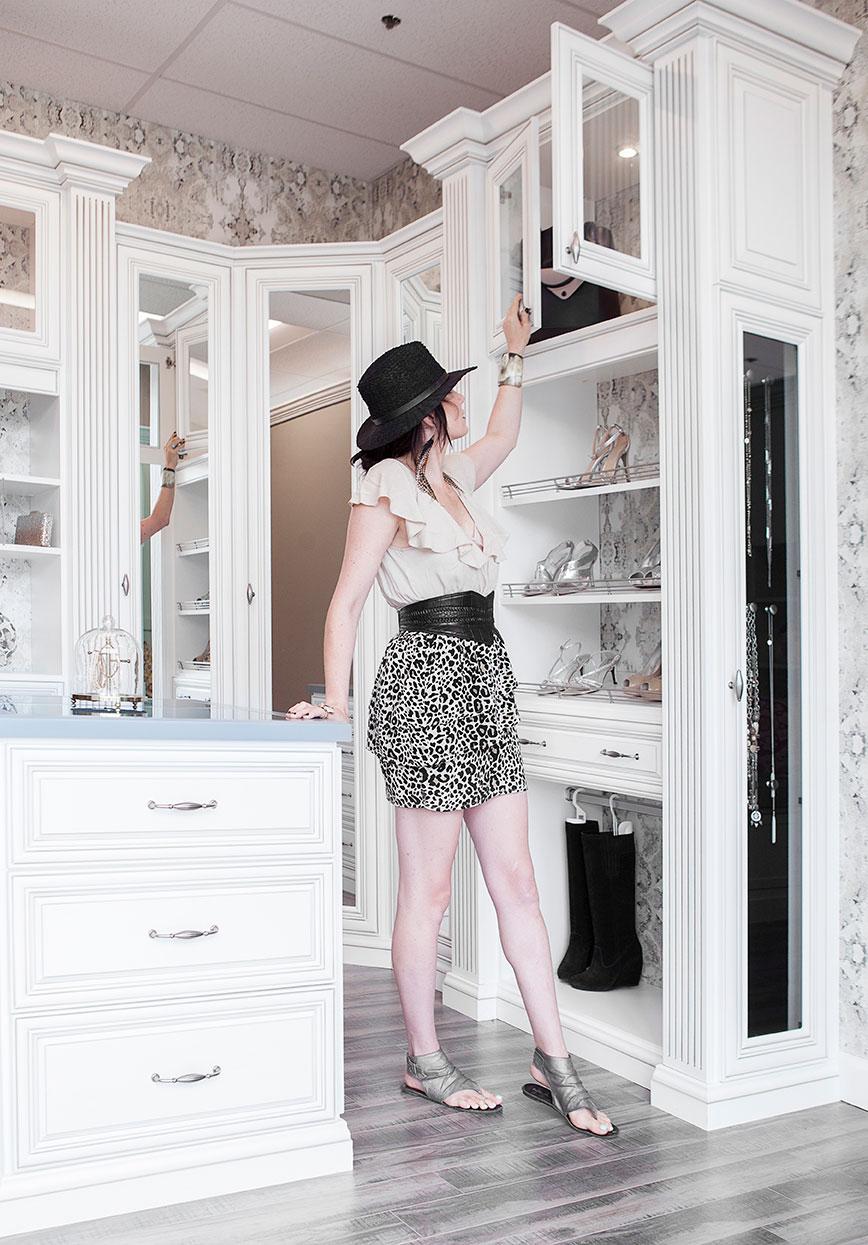 client in showroom