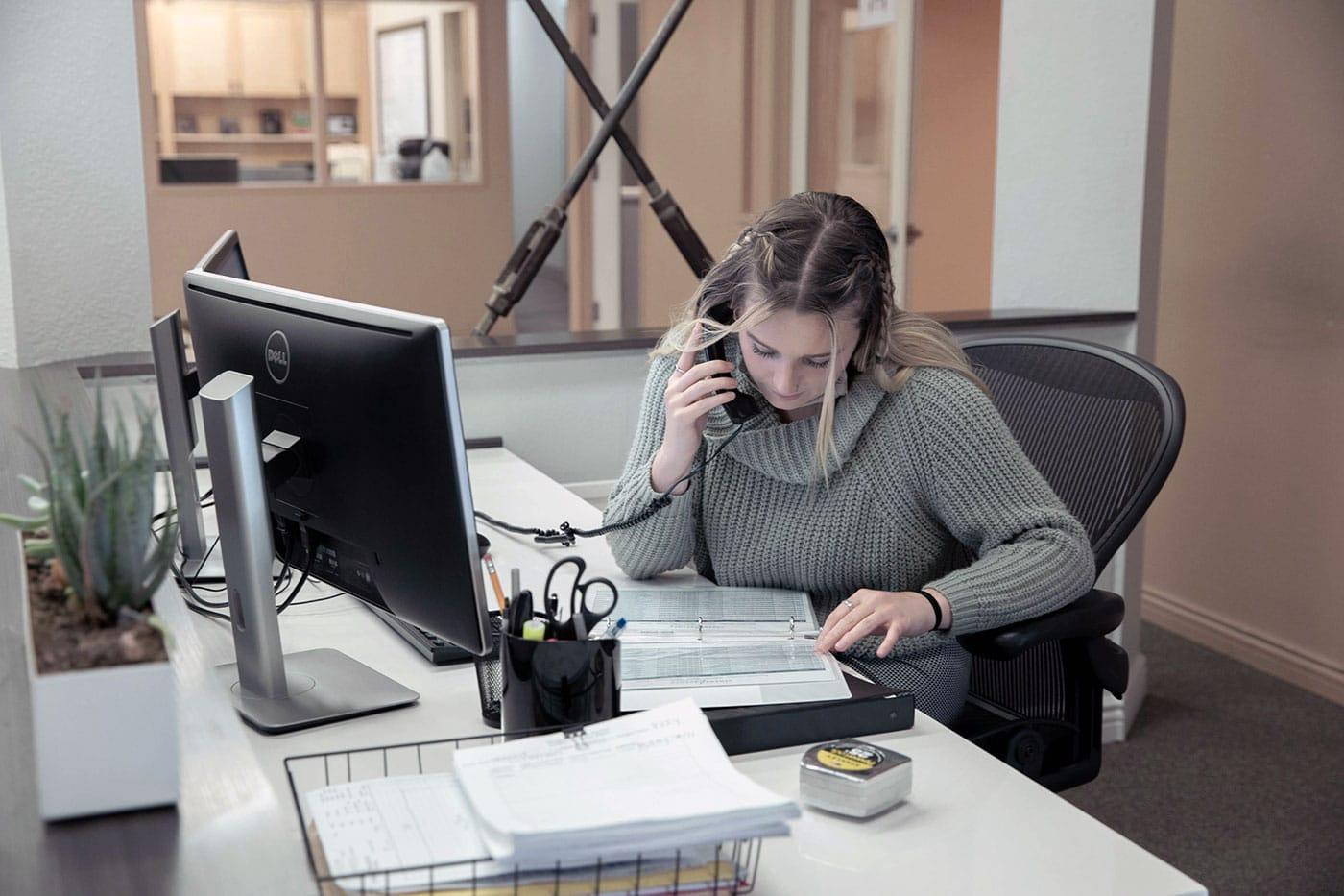 la office person