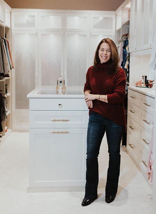 designer in closet