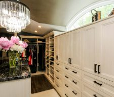thermo foil cabinet doors in dressing room closet