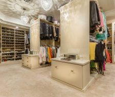 bedroom converted into a dressing room and closet