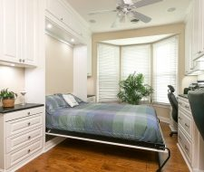 white traditional murphy bed