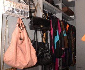 jill zarin handbgs in closet