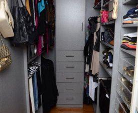 grey melamine custom closet
