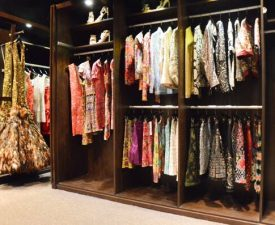 clothing hanging in custom closet